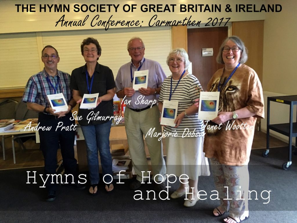 Group shot holding Hymns of Hope & Healing