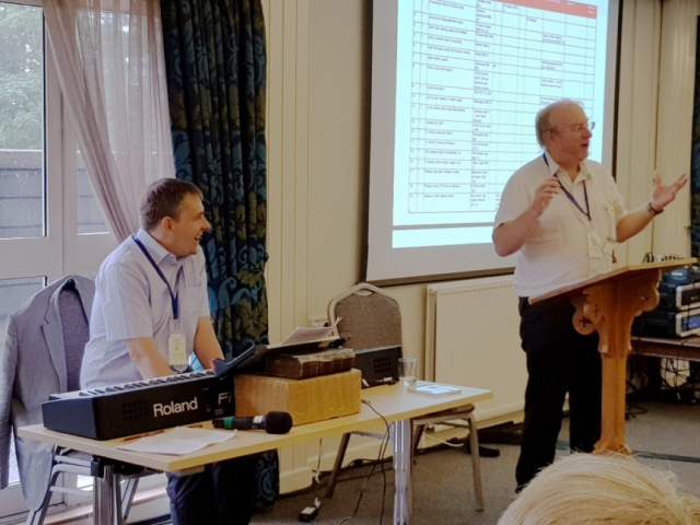 Gordon Giles and Huw Williams introducing the Revised English Hymnal