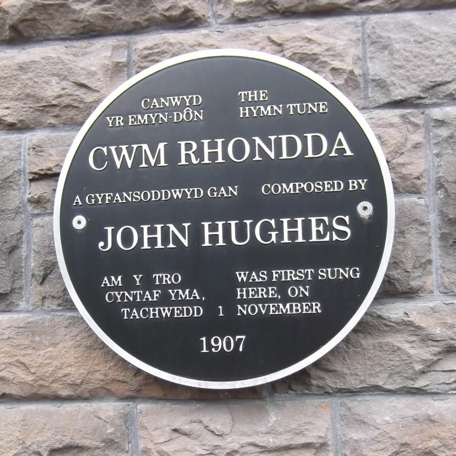 Cwm Rhondda plaque