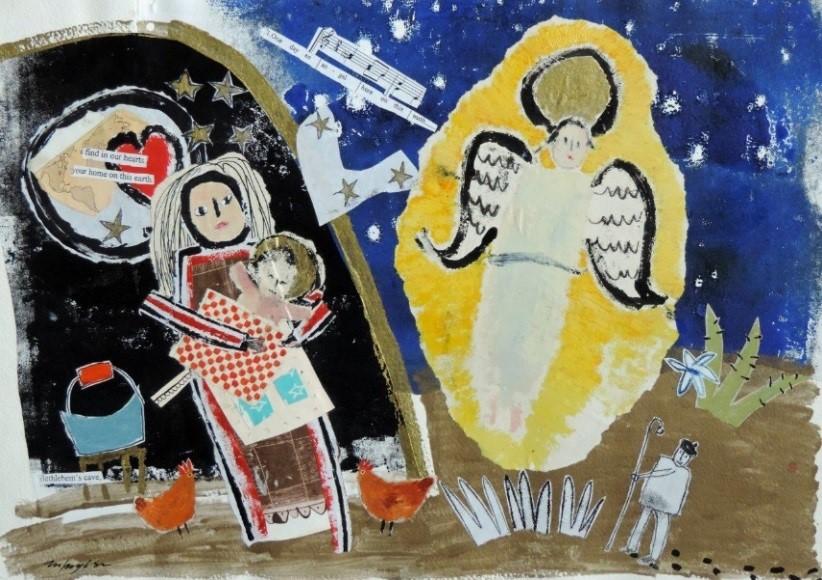 Ingebjørg Smith Nativity with angel